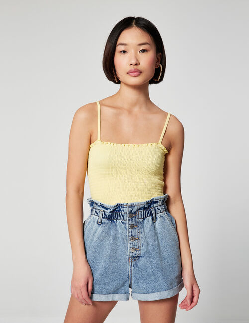 Paperbag denim jeans