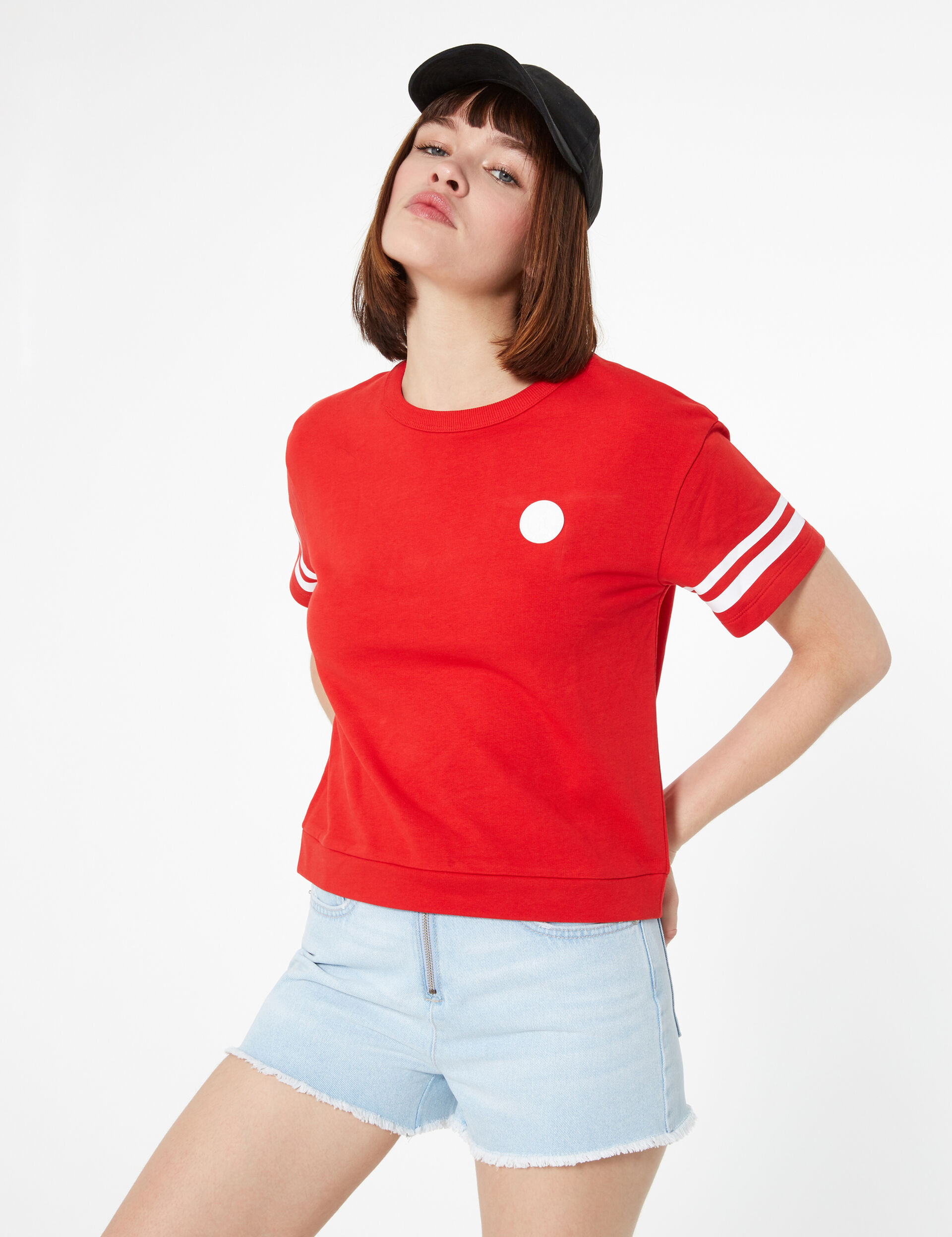 Sweat manches courtes rouge