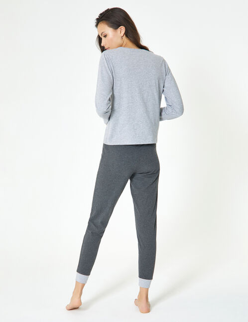 set pyjama hug dealer gris