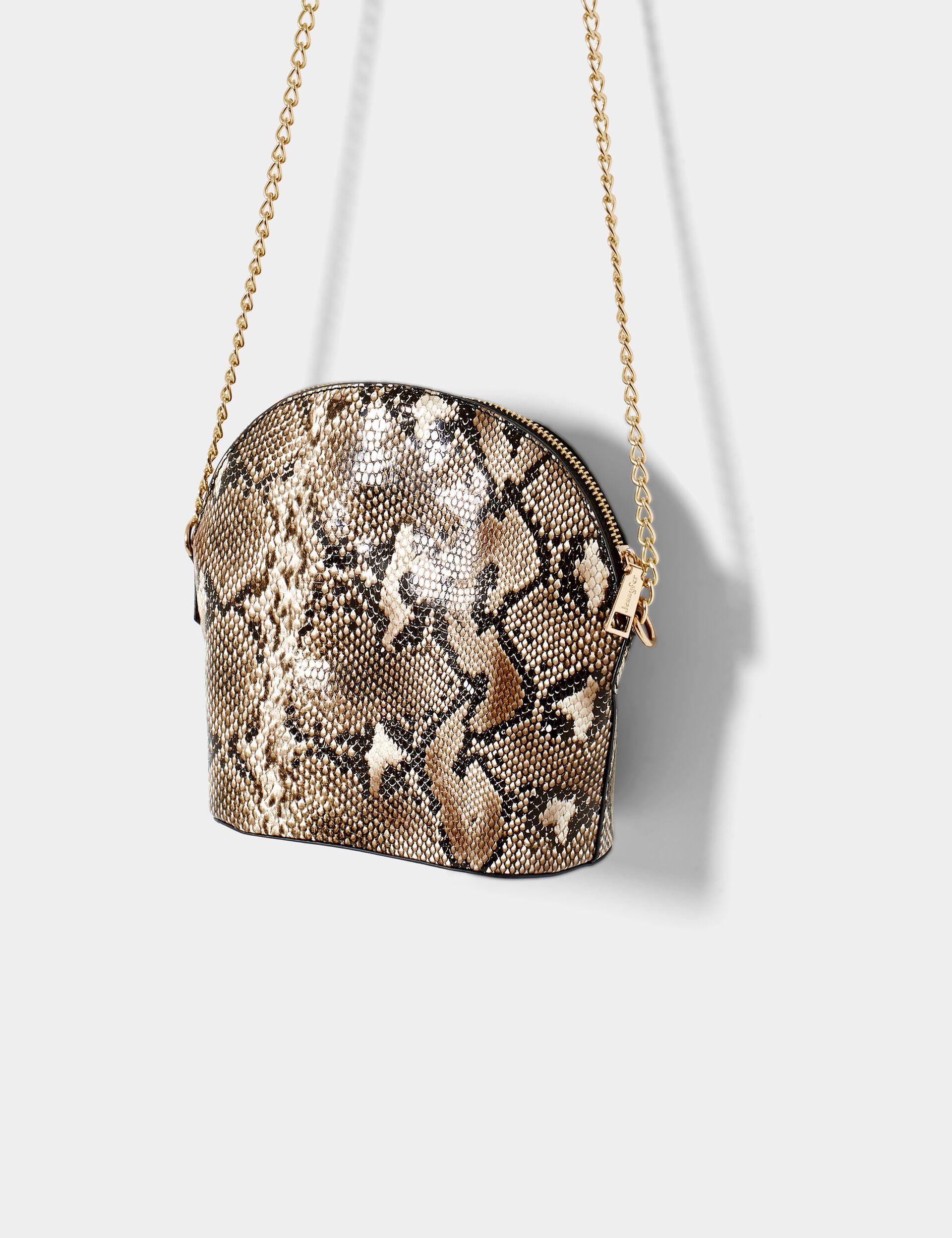 Faux-python skin bag