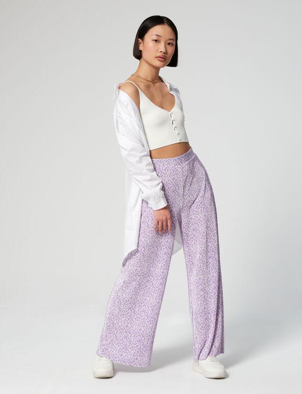 Pantalon plissé imprimé