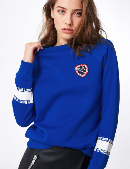 "Blue ""ultimate girl"" sweatshirt"