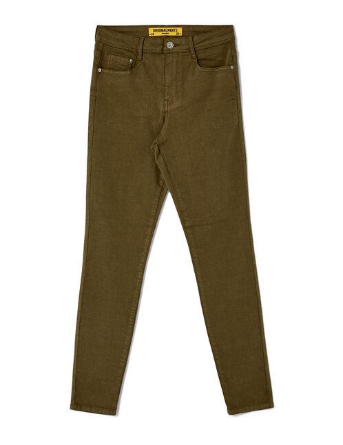 Khaki skinny jeans