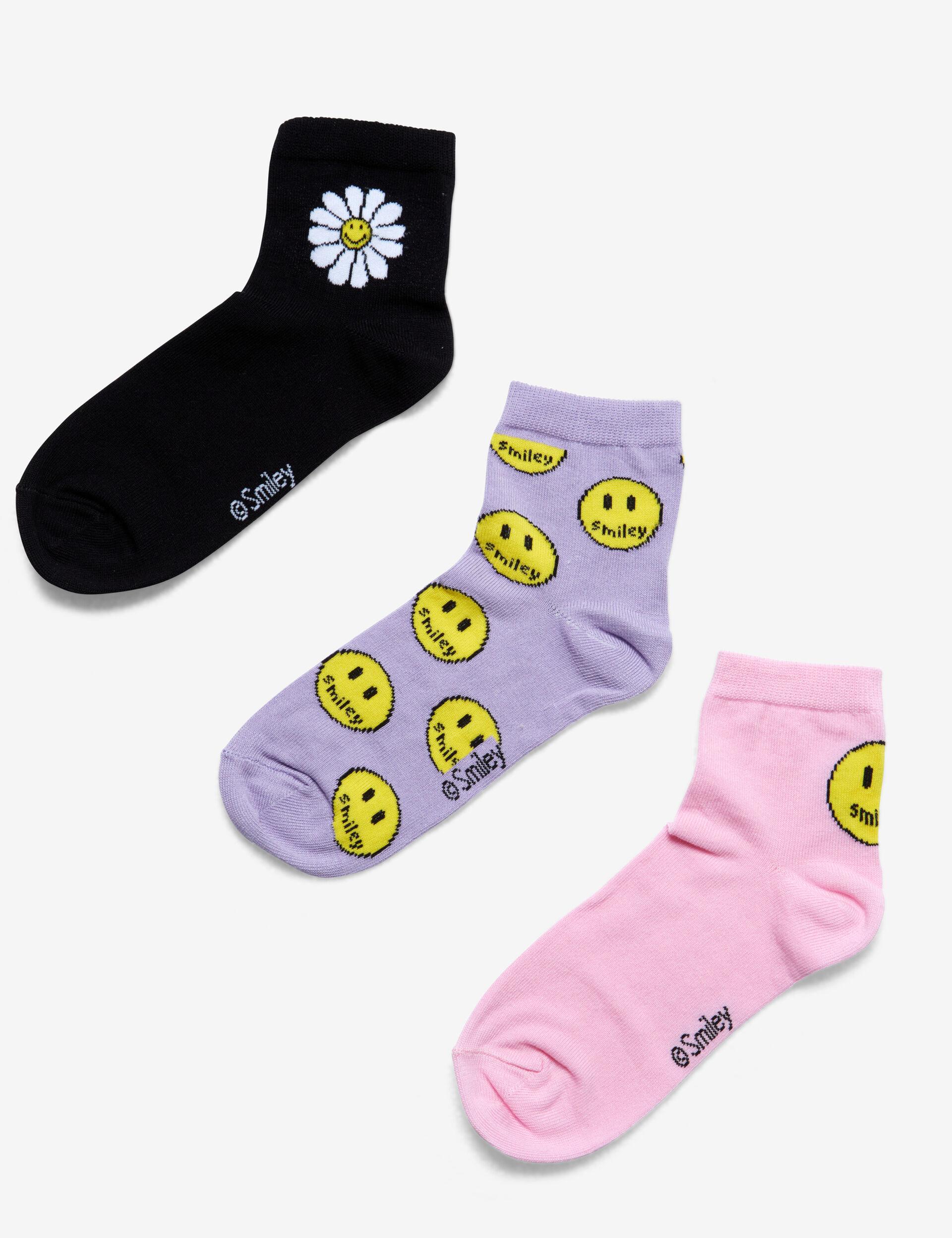 Chaussettes hautes Smiley