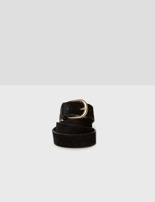 ceinture suédine noire