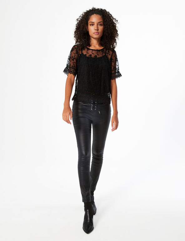 Top with lace overlay