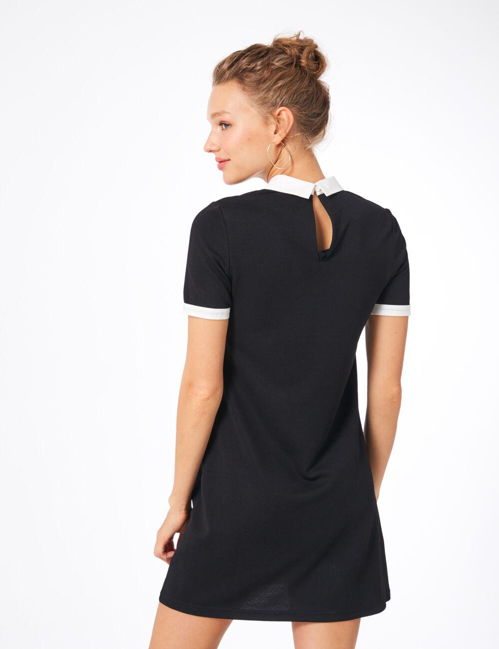 caa7d2bcce2 robe avec col blanc noire robe avec col blanc noire ...