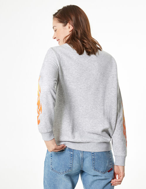'fresher' flame print sweatshirt