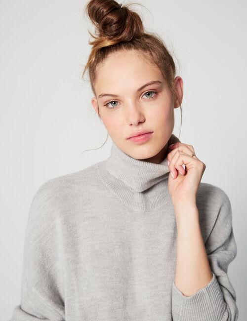 Long roll-neck jumper