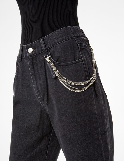 jean cargo avec chaine