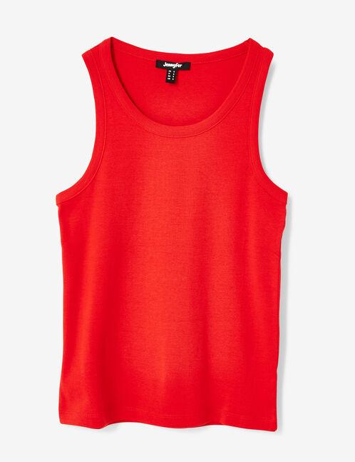 Basic red tank top