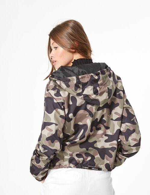 veste imperméable camouflage