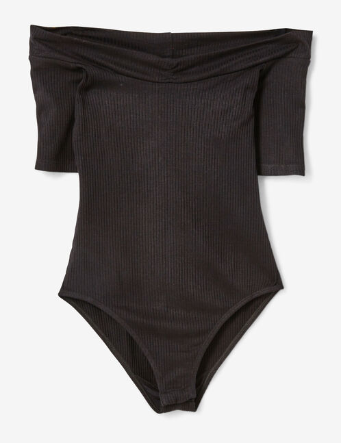 body col bardot noir