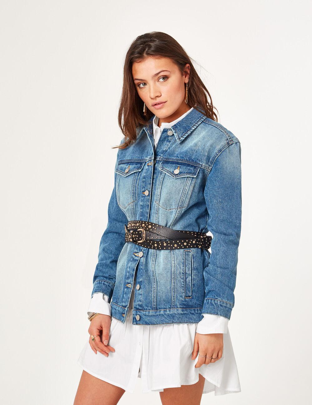 Veste en jean sans manche femme jennyfer