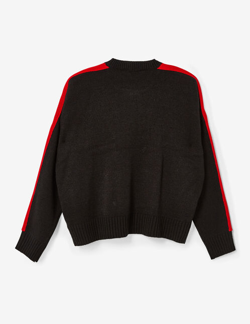 """Black, red and white """"queen"""" jumper"""