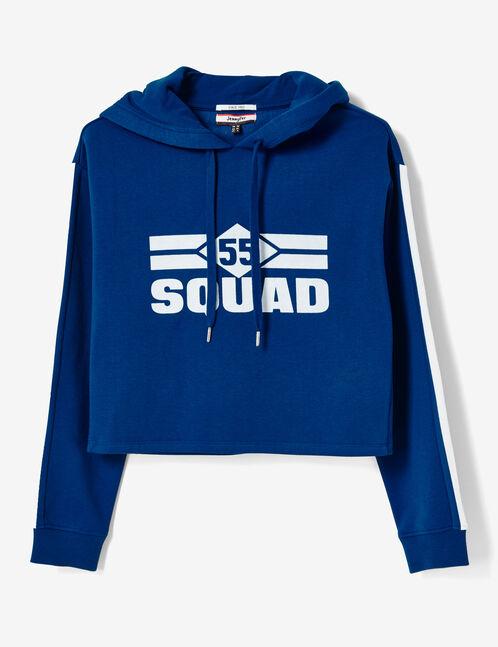 sweat à capuche 55 squad bleu