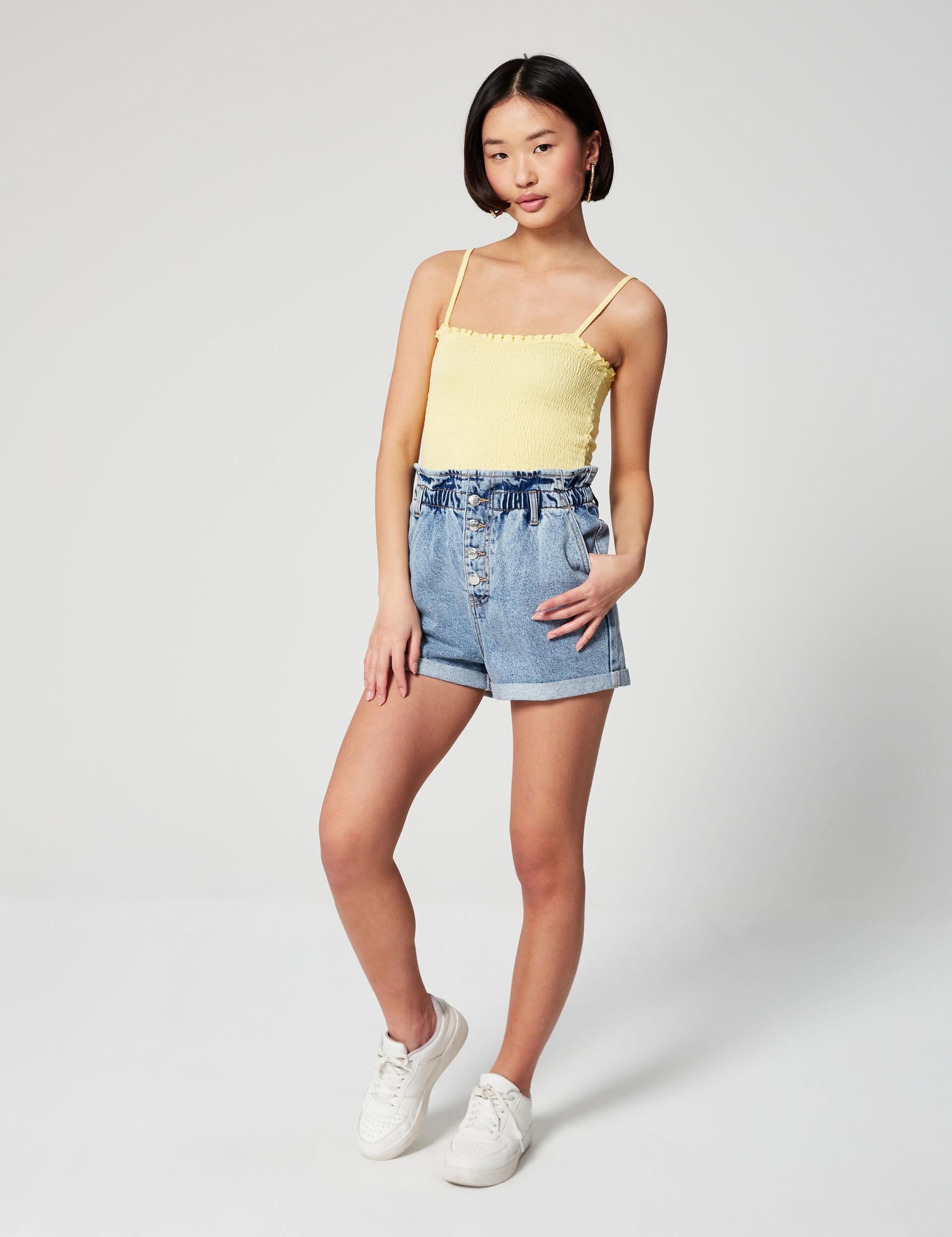 Short paperbag en jean
