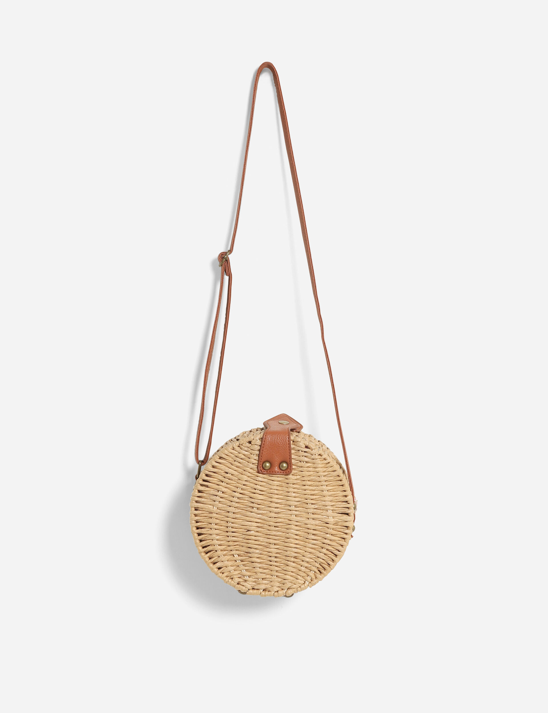 Rigid raffia bag