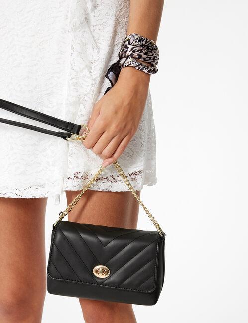 sac avec matelassage noir