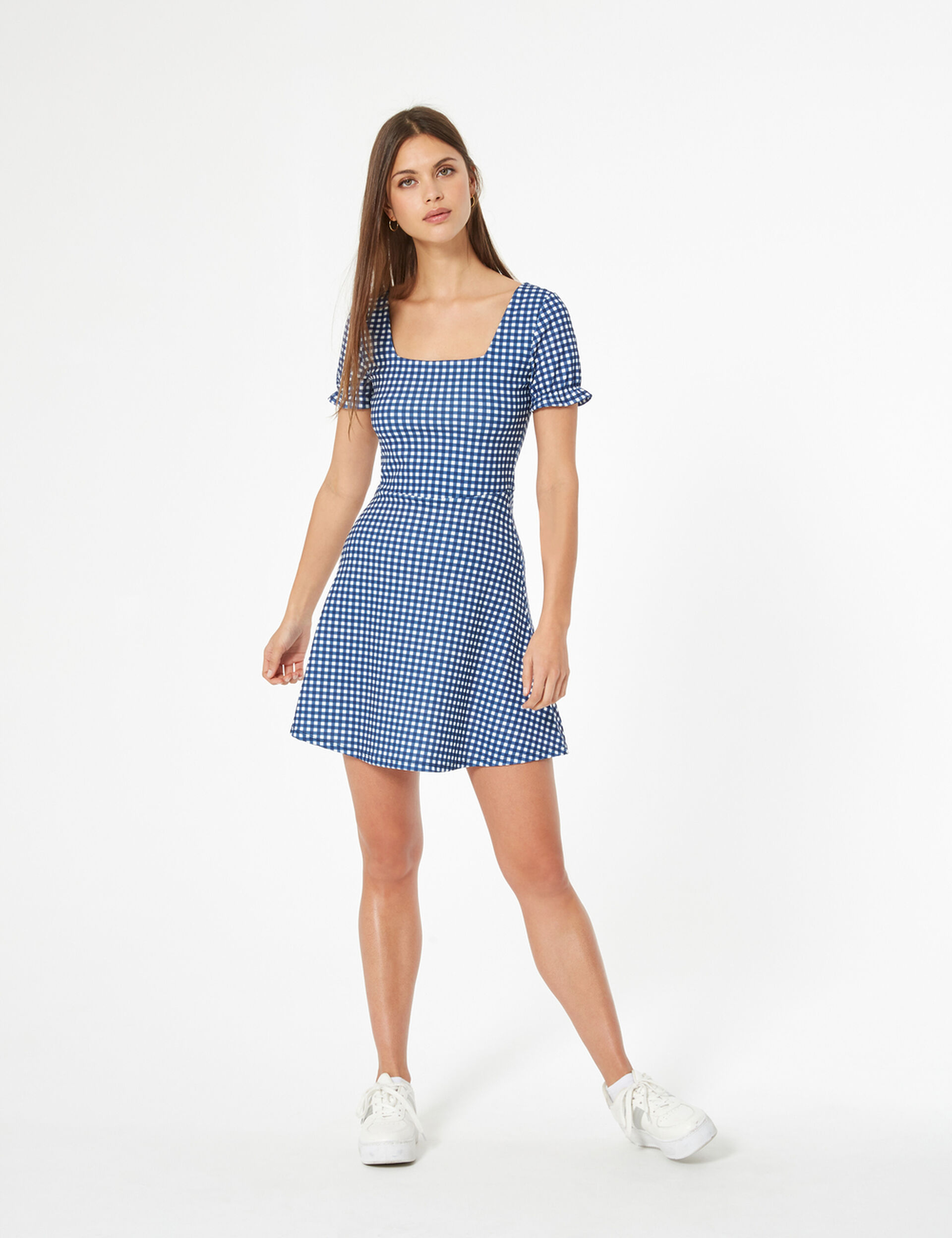 Vichy skater dress