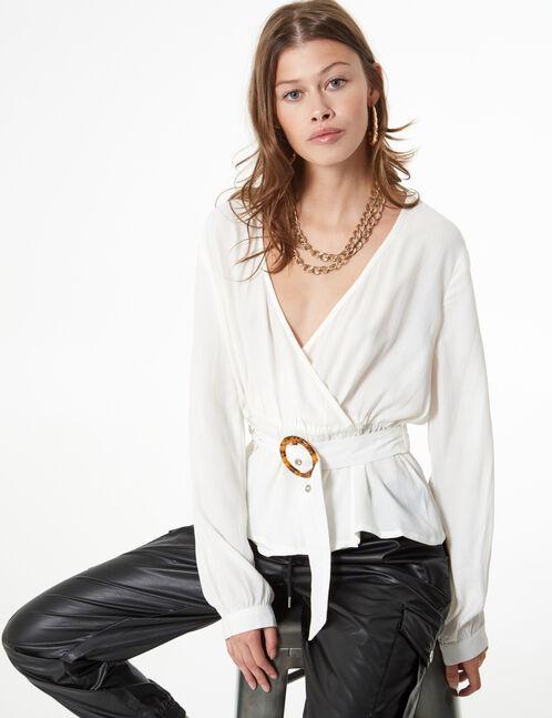 blouse cache-cœur