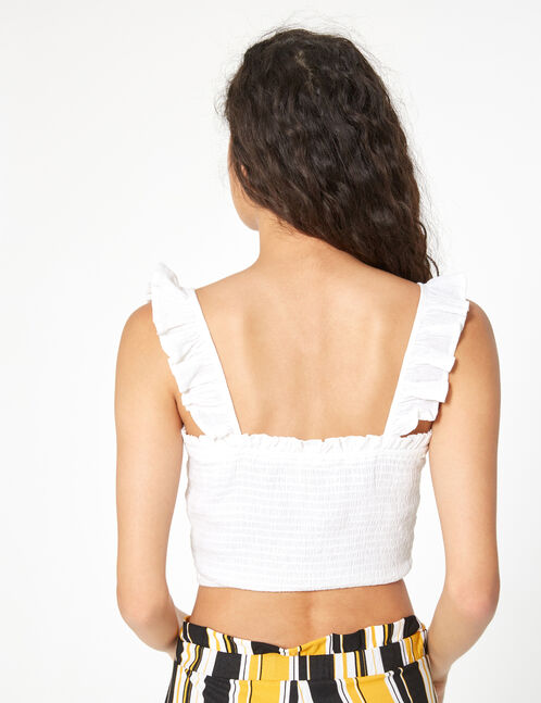 crop top with ruffles