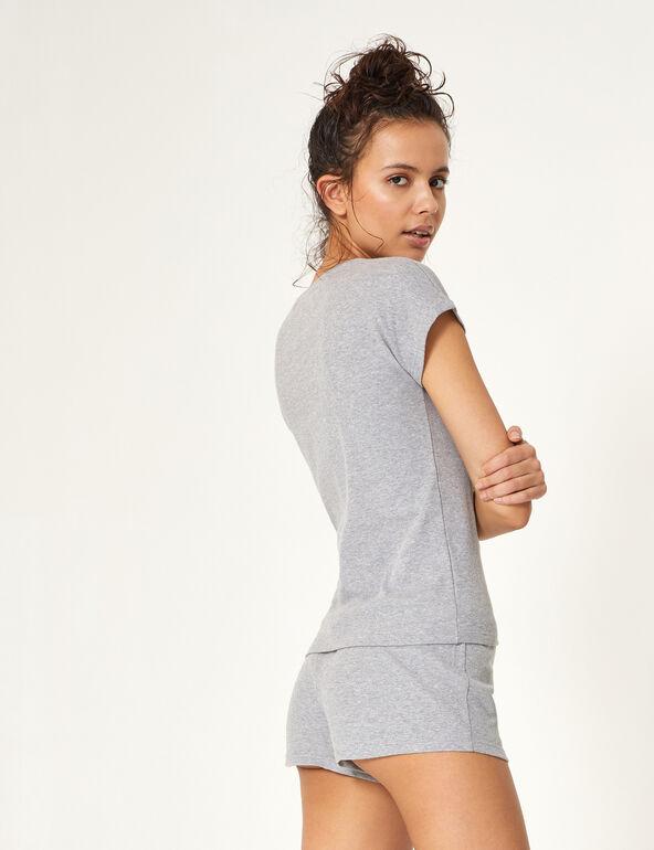 Set pyjama à message gris clair