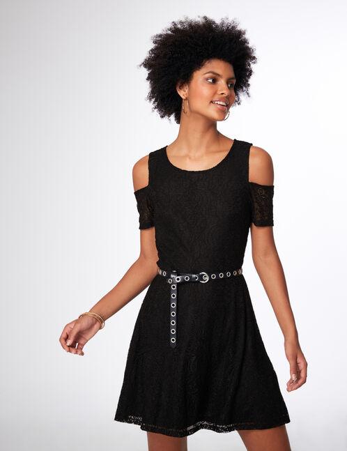 robe dentelle noire