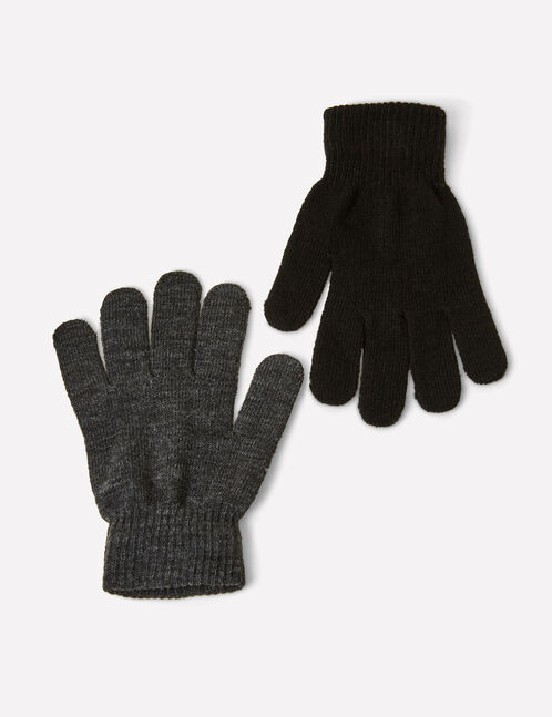 Black and charcoal grey gloves
