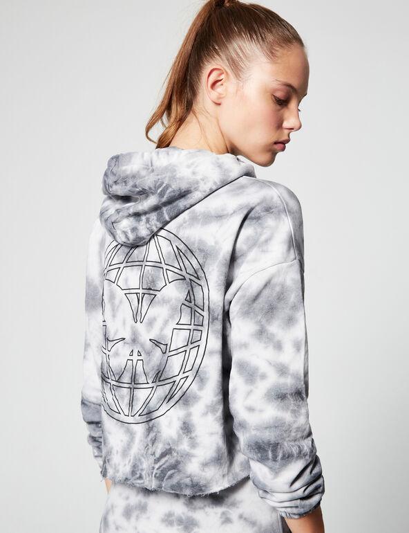 Printed cropped hoodie