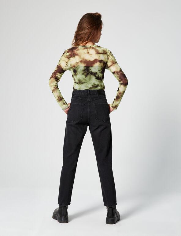 Mum jeans with yoke