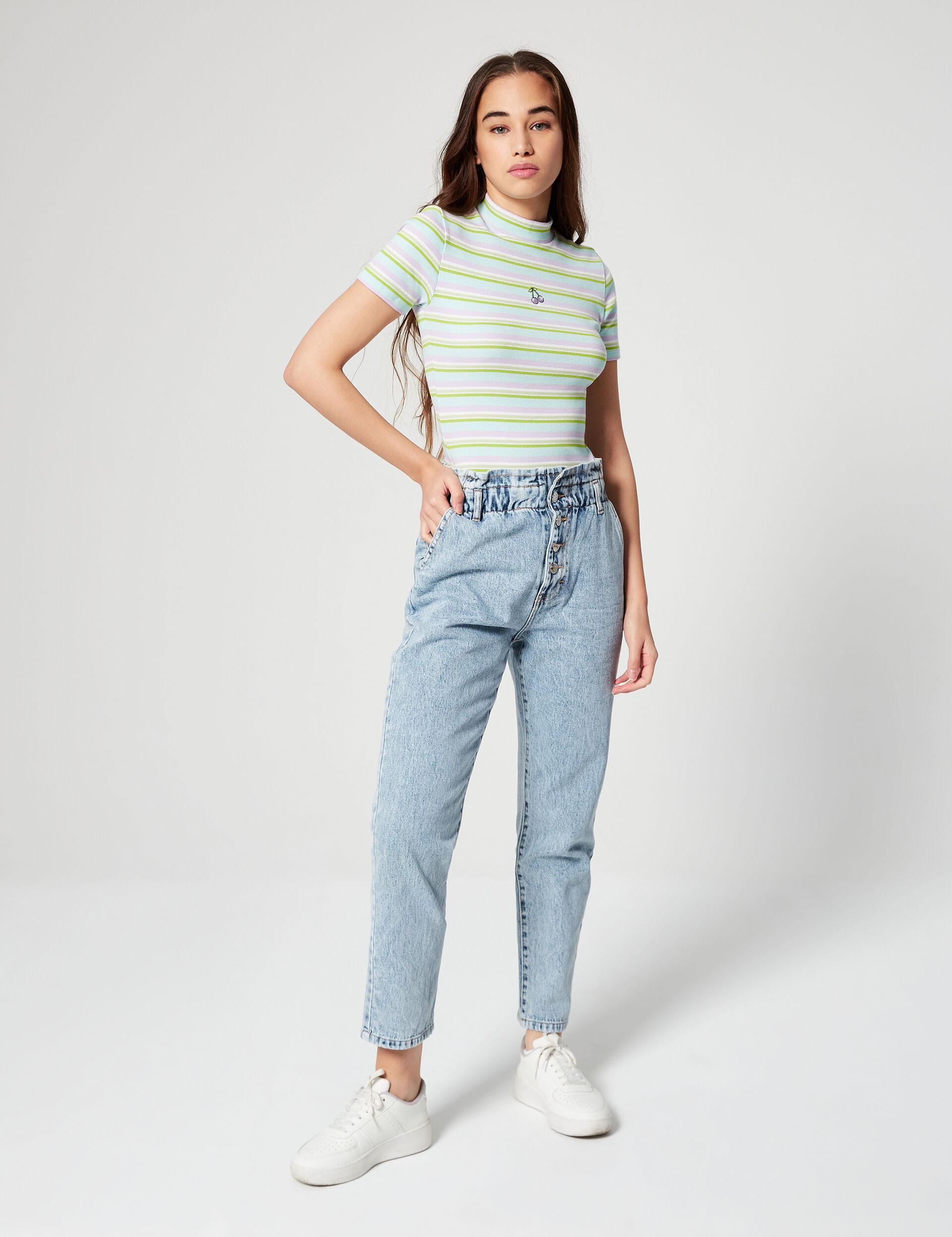 Tee-shirt rayé à motifs