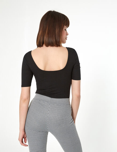 body zippé avec poches noir
