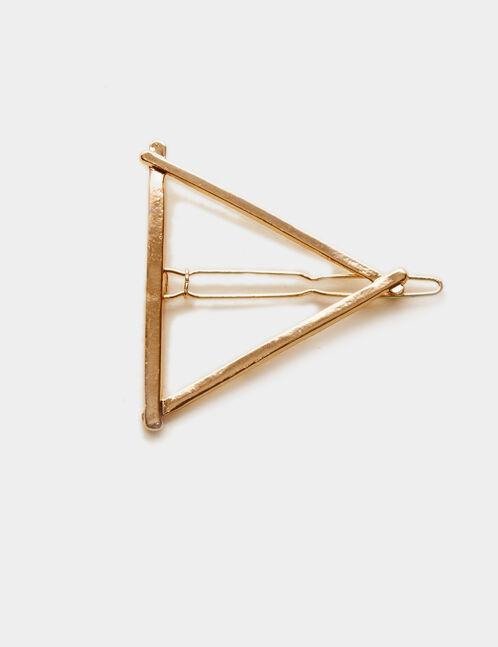 pince à cheveux triangle dorée