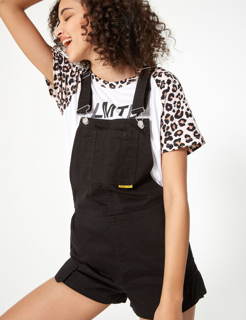 cargo-style crop dungarees