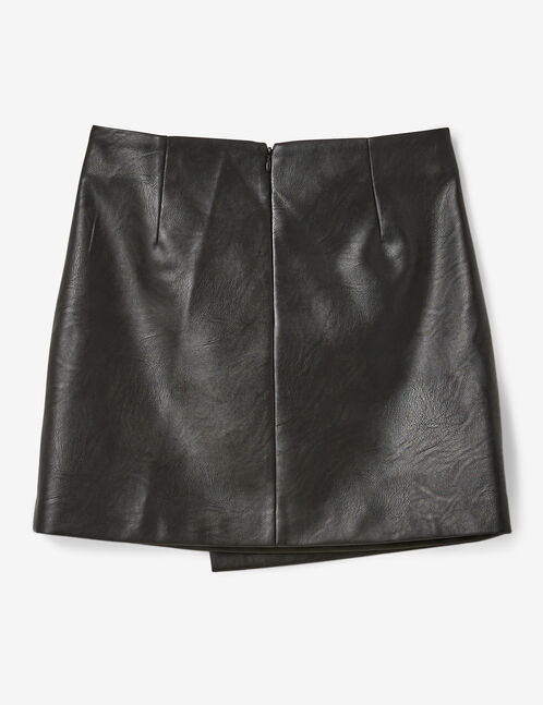 Black skirt with decorative zip detail