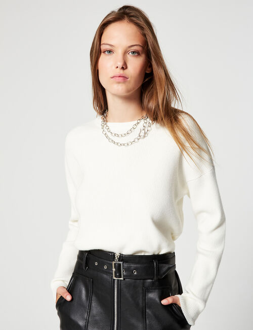 Loose-fit ribbed jumper