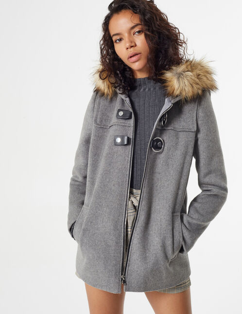 coat with buckle detail