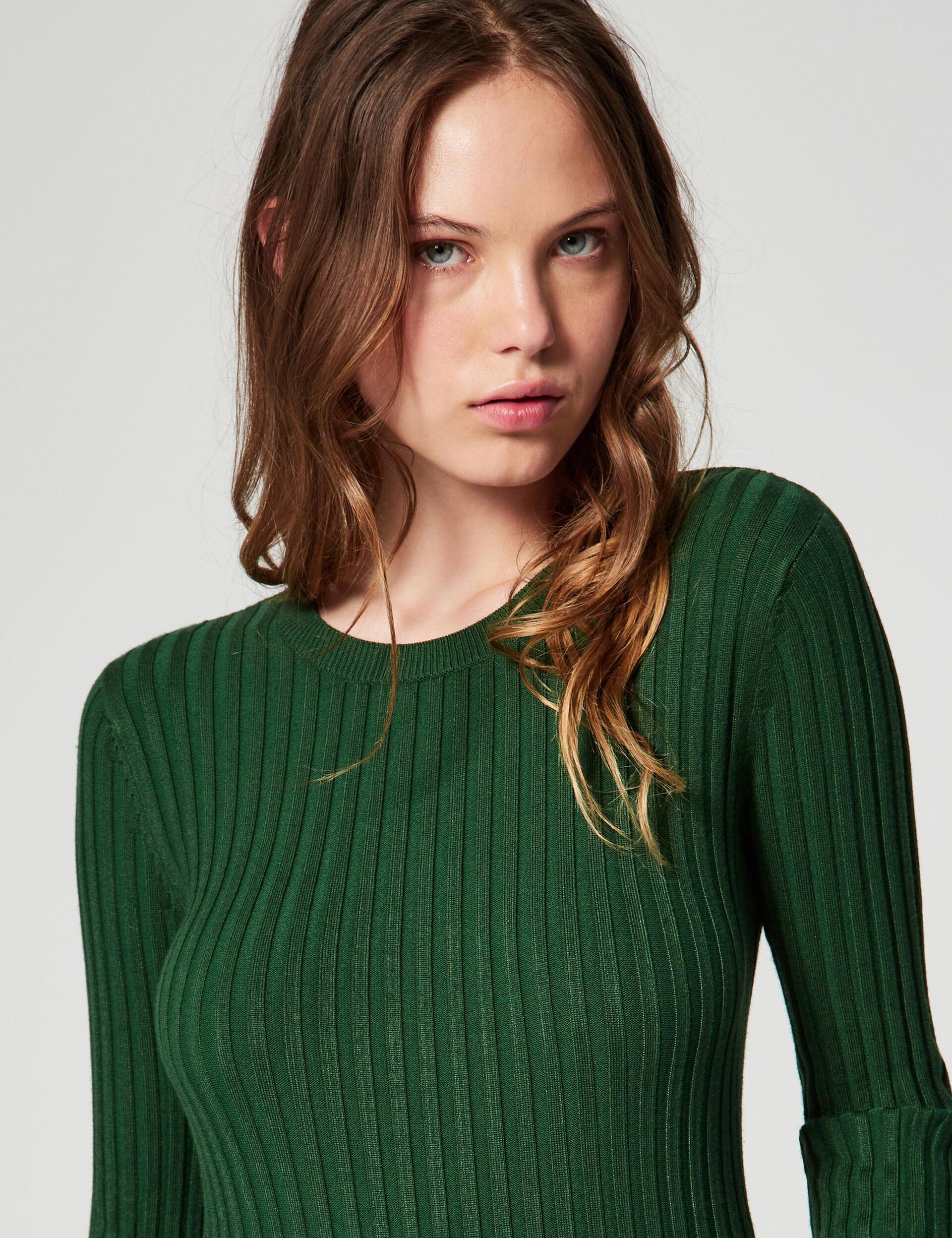 Rib knit jumper