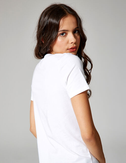 "White ""glorious"" T-shirt"