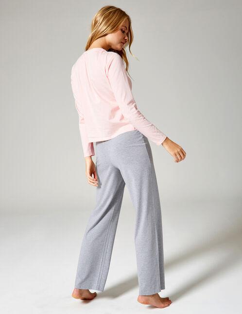 Long grey and light pink pyjamas