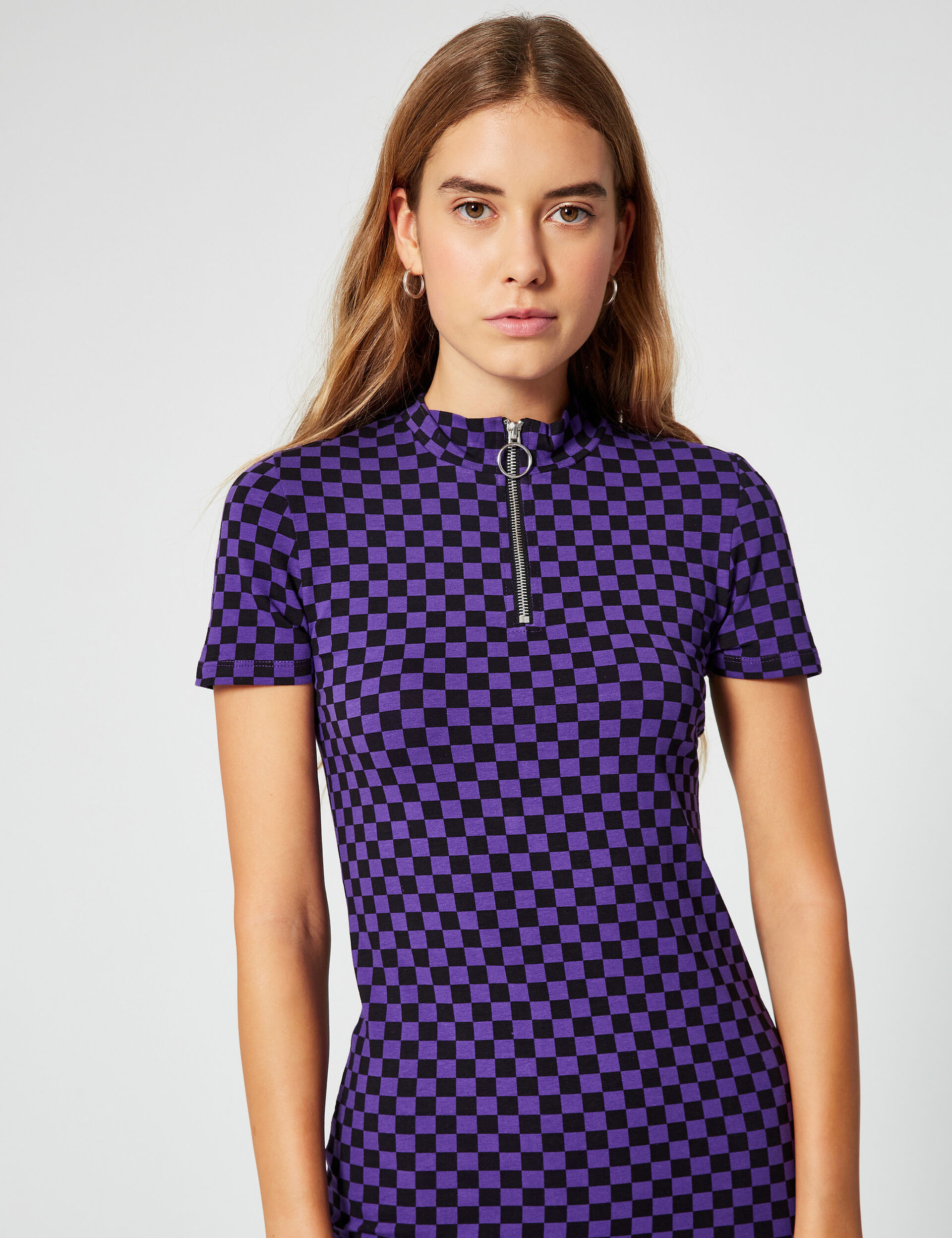 Chequered polo shirt dress