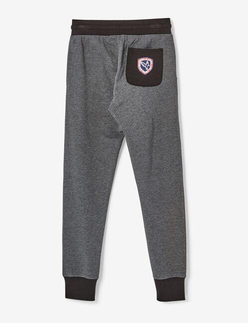 Charcoal grey marl slim-fit joggers