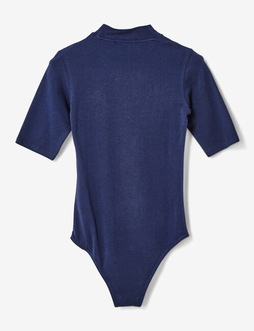 "Navy blue ""iconic girl"" bodysuit"