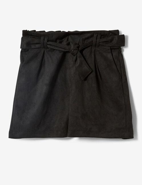 short suédine noir