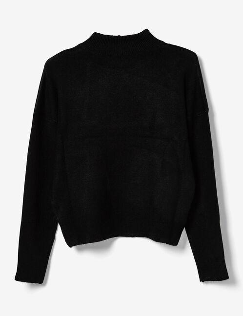Black cashmere-feel jumper