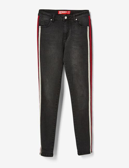 jean avec bandes côtés noir