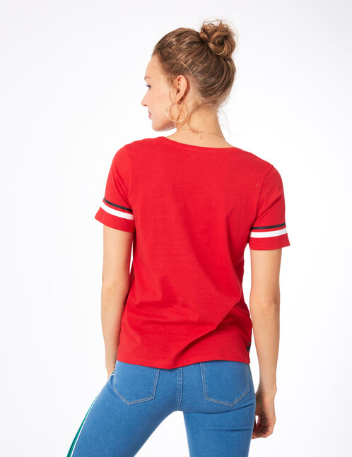 "Red ""mighty"" T-shirt"