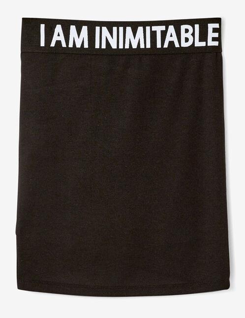 jupe tube à message noire