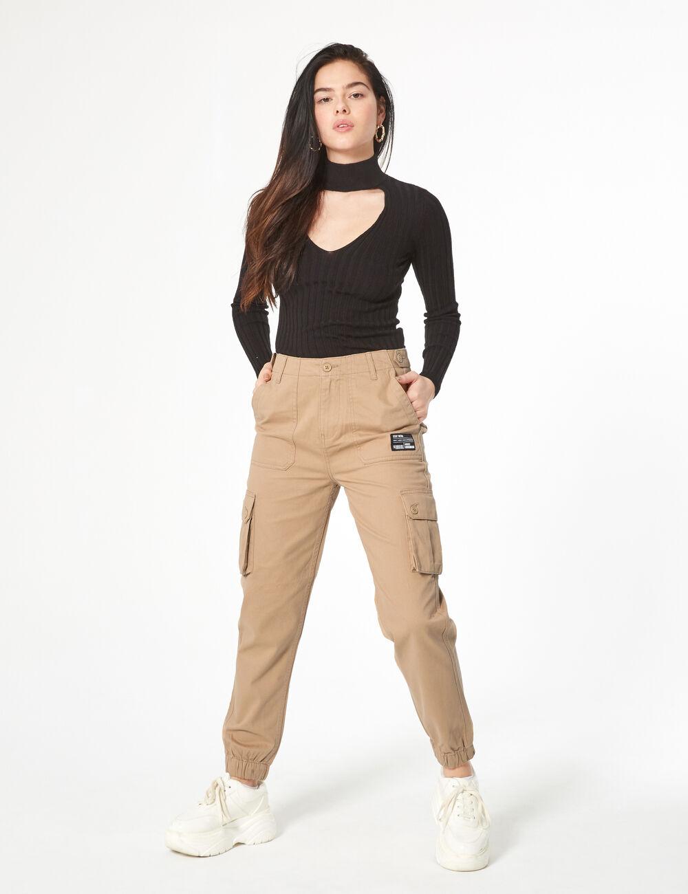 plus récent sortie de gros emballage fort Esprit Femme Pantalon Cargo Jennyfer • Beige Rq34L5Aj